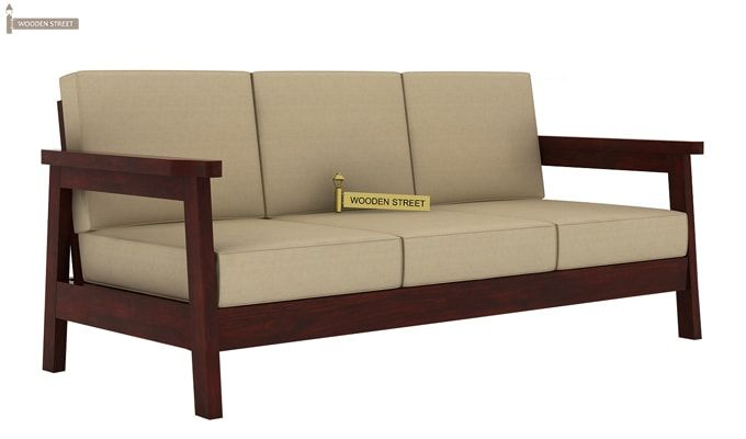 Conan Wooden Sofa 3+1+1 Set (Mahogany Finish)-2