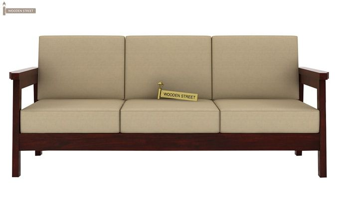 Conan Wooden Sofa 3+1+1 Set (Mahogany Finish)-3