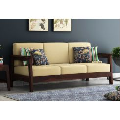 Conan 3 Seater Wooden Sofa