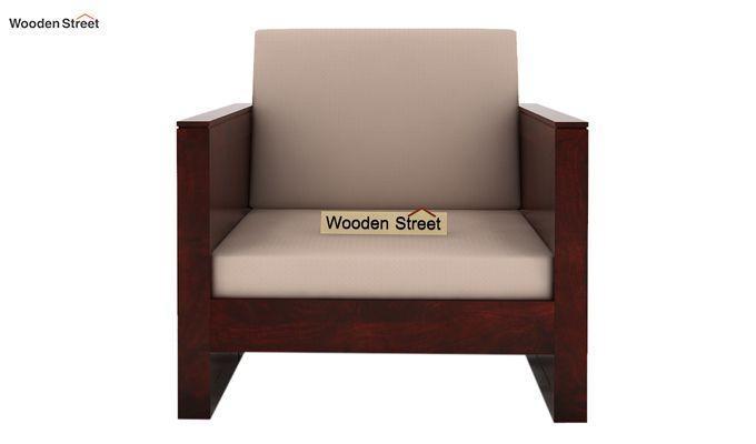 Corsica 1 Seater Wooden Sofa (Mahogany Finish)-2
