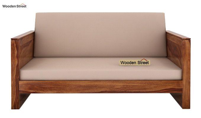 Corsica 2 Seater Wooden Sofa (Teak Finish)-2