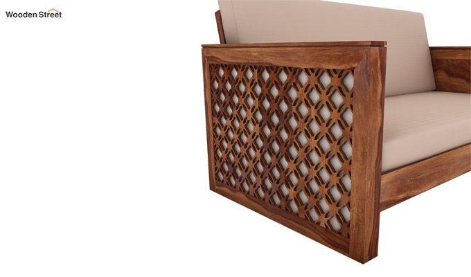 Corsica 2 Seater Wooden Sofa (Teak Finish)-3