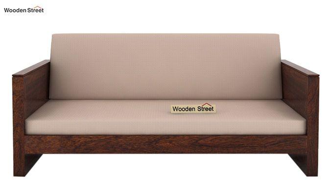 Corsica 3 Seater Wooden Sofa (Walnut Finish)-3