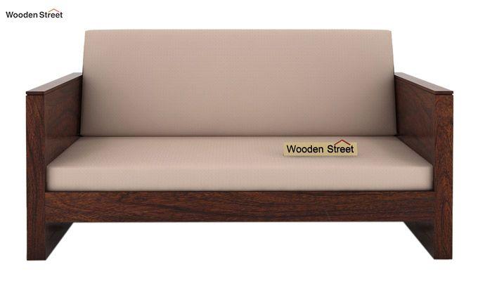 Corsica 2 Seater Wooden Sofa (Walnut Finish)-2
