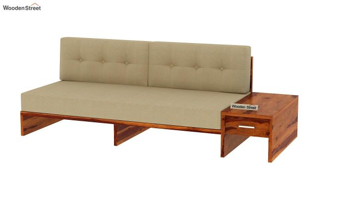 Cortez L-Shaped Wooden Sofa (Honey Finish)-12