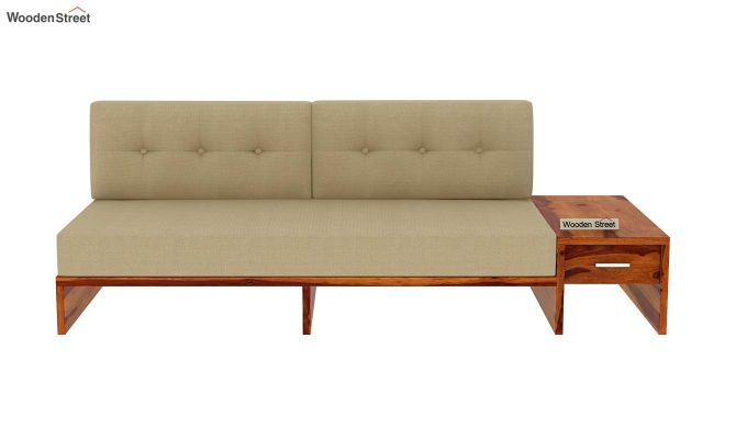 Cortez L-Shaped Wooden Sofa (Honey Finish)-10