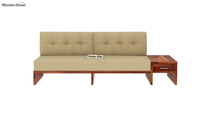 Cortez L-Shaped Wooden Sofa (Honey Finish)-7