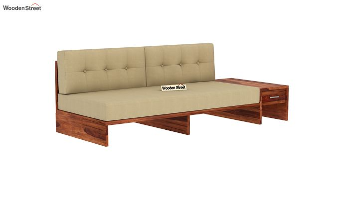 Cortez L-Shaped Wooden Sofa (Honey Finish)-8