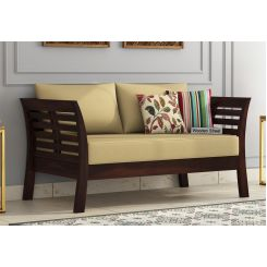 Darwin 2 Seater Wooden Sofa