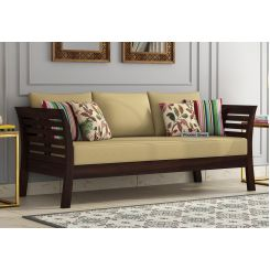 Darwin 3 Seater Wooden Sofa