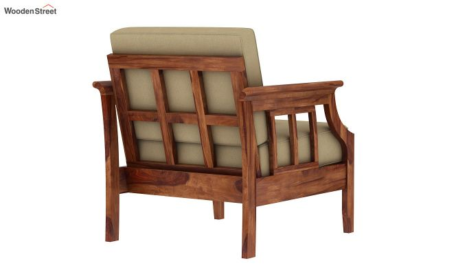Elora  Wooden Sofa 3+1+1 Set (Teak Finish)-6