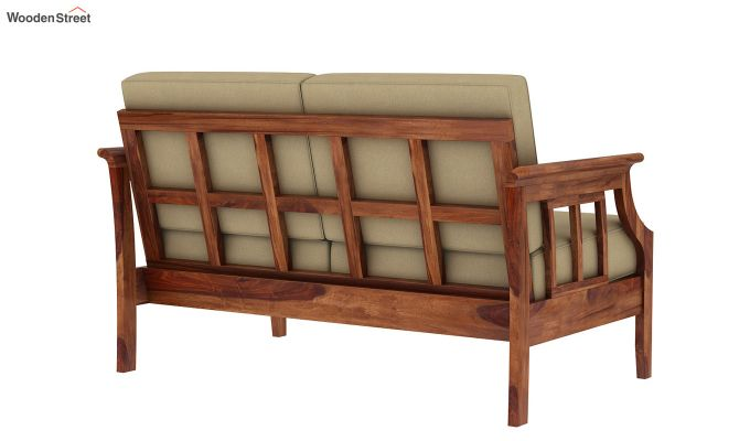 Elora 2 Seater Wooden Sofa (Teak Finish)-4
