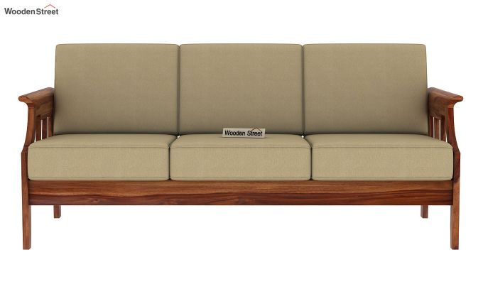 Elora  Wooden Sofa 3+1+1 Set (Teak Finish)-8