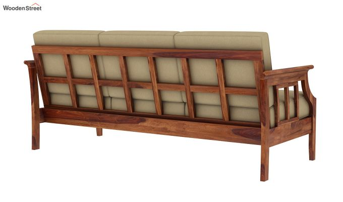 Elora  Wooden Sofa 3+1+1 Set (Teak Finish)-9
