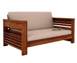 Feltro 2 Seater Wooden Sofa (Honey Finish)