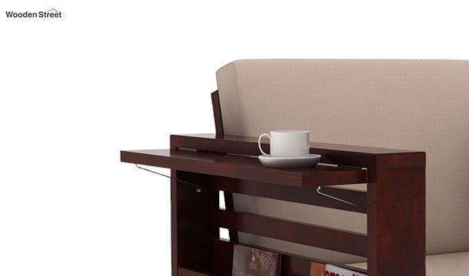 Feltro 2 Seater Wooden Sofa (Mahogany Finish)-4