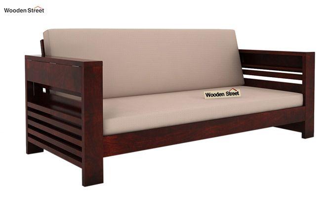 Feltro 3 Seater Wooden Sofa (Mahogany Finish)-1