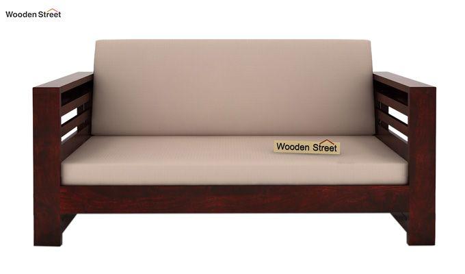 Feltro 2 Seater Wooden Sofa (Mahogany Finish)-2