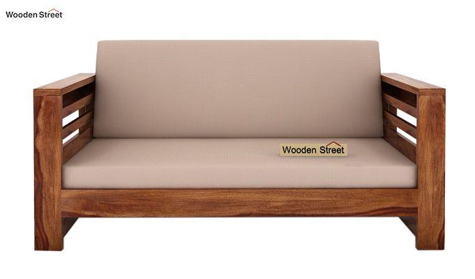 Feltro 2 Seater Wooden Sofa (Teak Finish)-2
