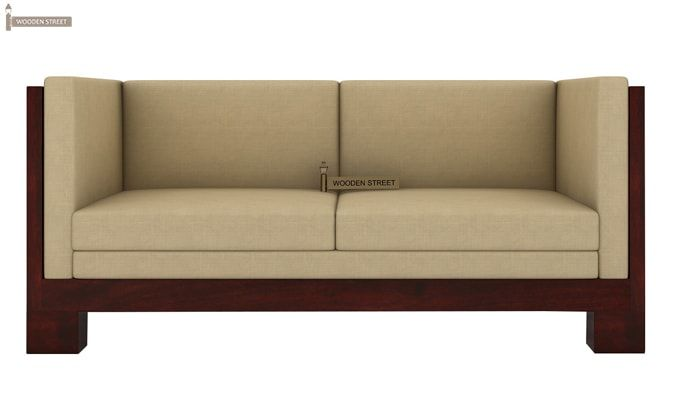 Hizen Wooden Sofa 2+1+1 Set (Mahogany Finish)	-4