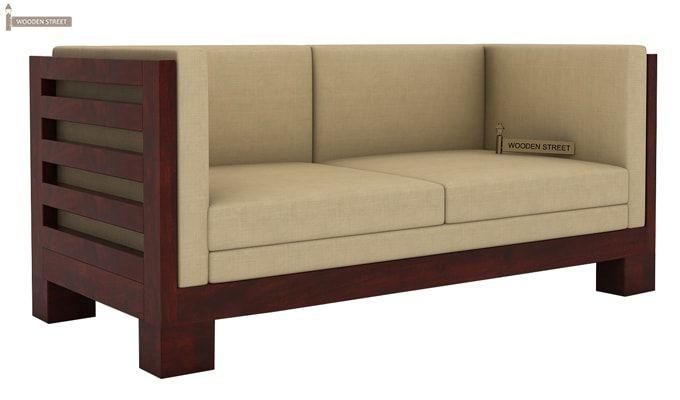 Hizen Wooden Sofa 2+1+1 Set (Mahogany Finish)-5