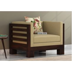 Hizen 1 Seater Wooden Sofa