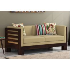 Hizen 2 Seater Wooden Sofa