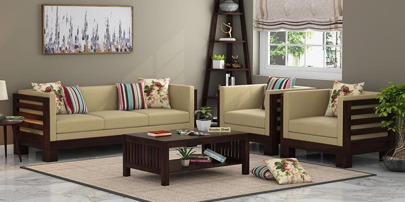 Wooden Sofa Set Buy Wooden Sofa Set Online In India Upto 55 Off
