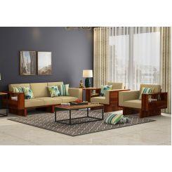 Lannister Wooden Sofa 3+1+1 Set