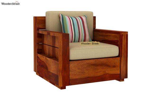 Marriott Wooden Sofa 3+1+1 Set (Honey Finish)-2