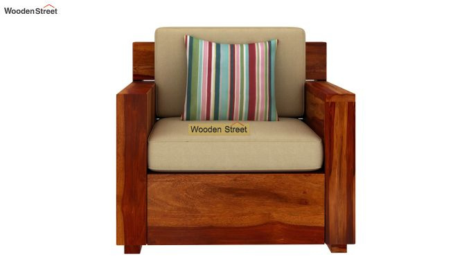 Marriott Wooden Sofa 3+1+1 Set (Honey Finish)-3