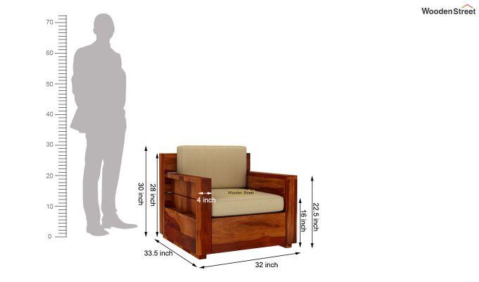 Marriott Wooden Sofa 3+1+1 Set (Honey Finish)-8