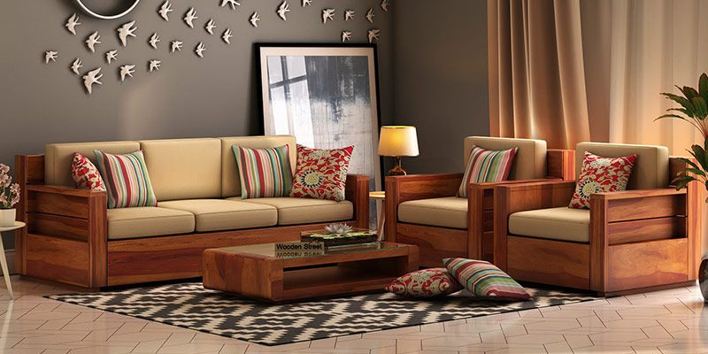 wooden sofa set buy wooden sofa set online in india upto 55 off. Black Bedroom Furniture Sets. Home Design Ideas