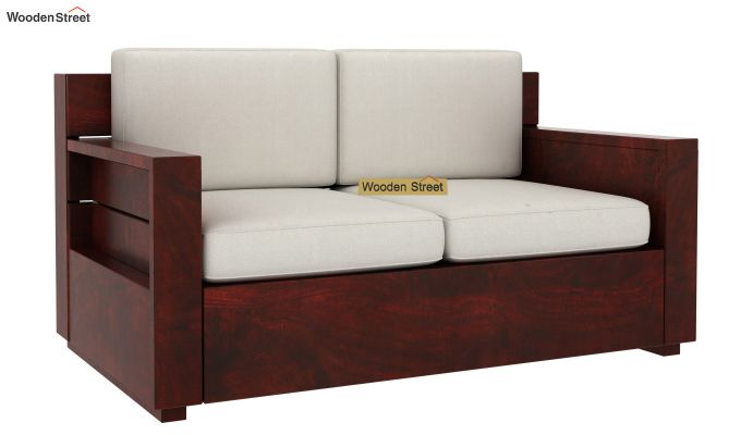 Marriott 2 Seater Wooden Sofa (Mahogany Finish)-4