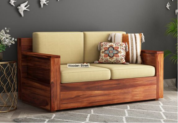 Marriott 2 Seater Wooden Sofa