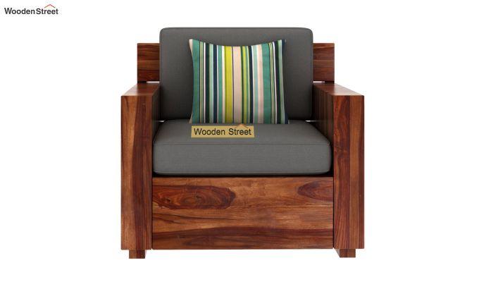 Marriott 1 Seater Wooden Sofa (Teak Finish)-3
