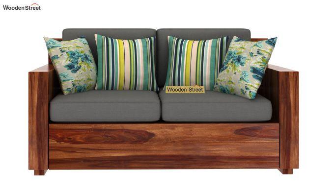 Marriott 2 Seater Wooden Sofa (Teak Finish)-3
