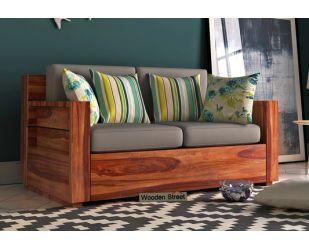 Marriott 2 Seater Wooden Sofa (Teak Finish)