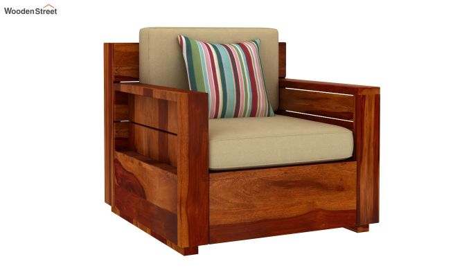 Marriott Wooden Sofa 3+1+1 Set (Honey Finish)-4