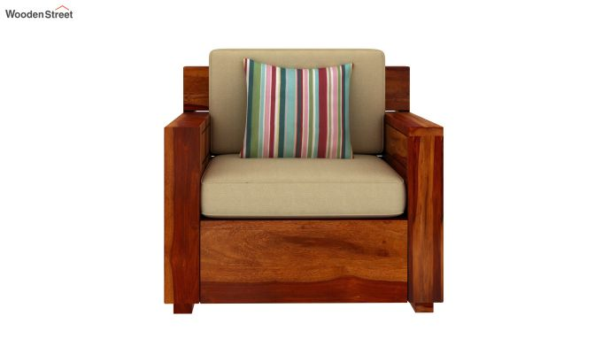 Marriott Wooden Sofa 3+1+1 Set (Honey Finish)-5