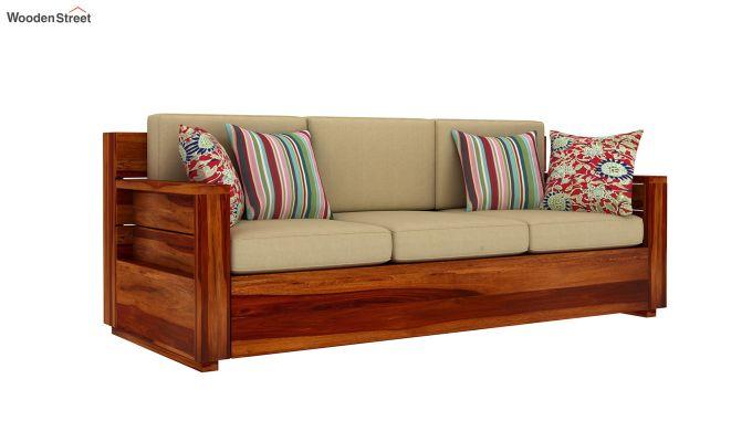 Marriott 3 Seater Wooden Sofa-2