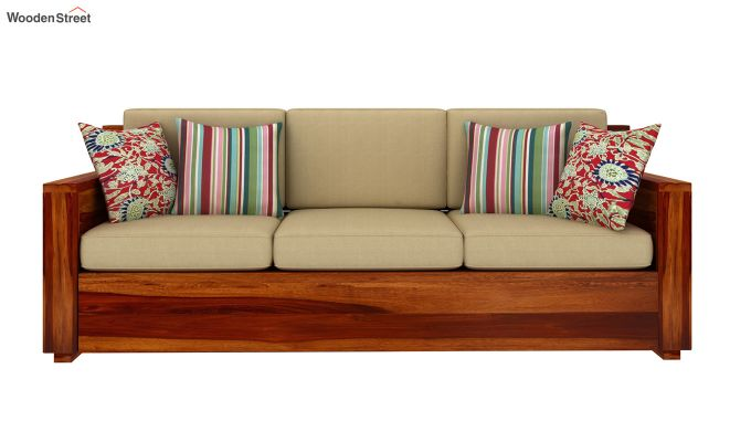 Marriott 3 Seater Wooden Sofa-3