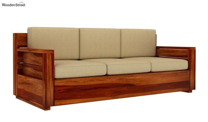 Marriott 3 Seater Wooden Sofa-4