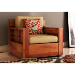 Marriott 1 Seater Wooden Sofa