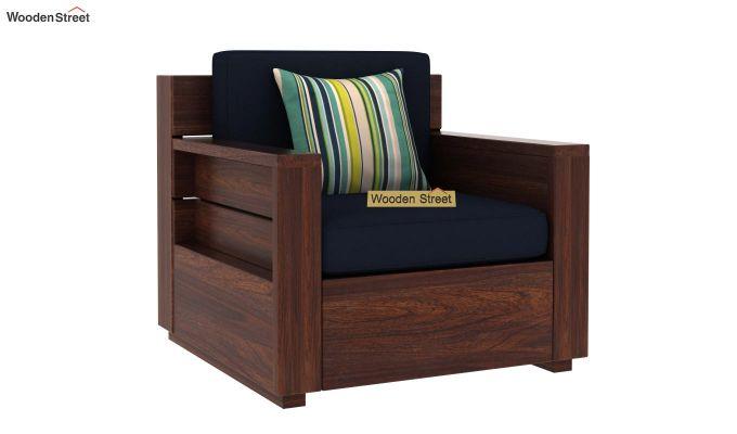 Marriott 1 Seater Wooden Sofa (Walnut Finish)-2