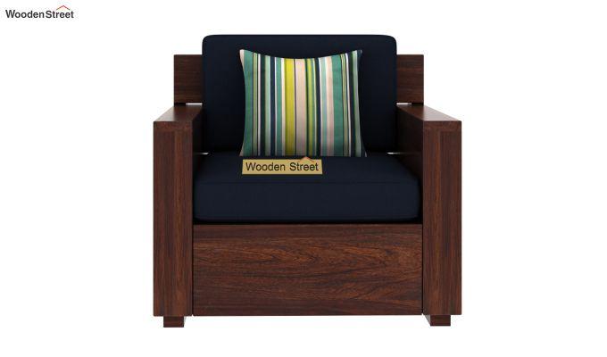 Marriott 1 Seater Wooden Sofa (Walnut Finish)-3