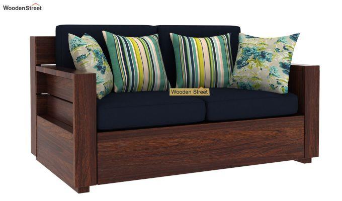 Marriott 2 Seater Wooden Sofa (Walnut Finish)-2