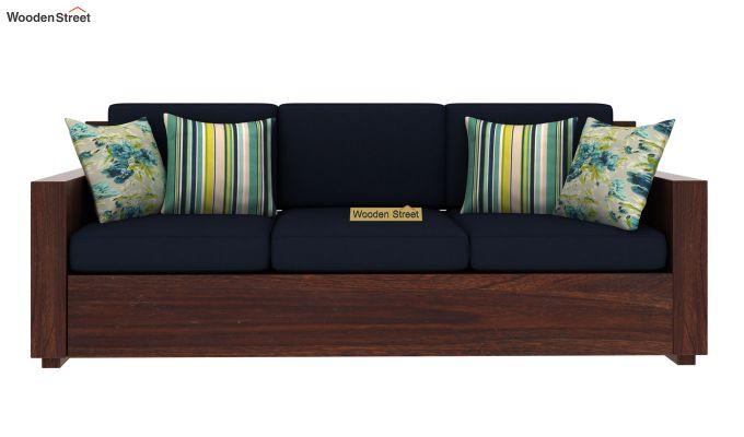 Marriott 3 Seater Wooden Sofa (Walnut Finish)-3