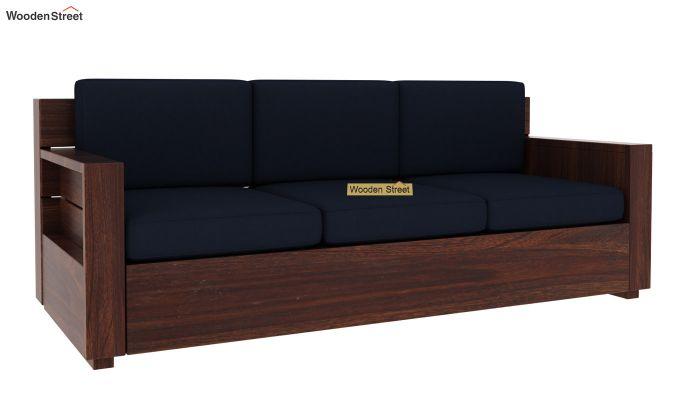 Marriott 3 Seater Wooden Sofa (Walnut Finish)-4