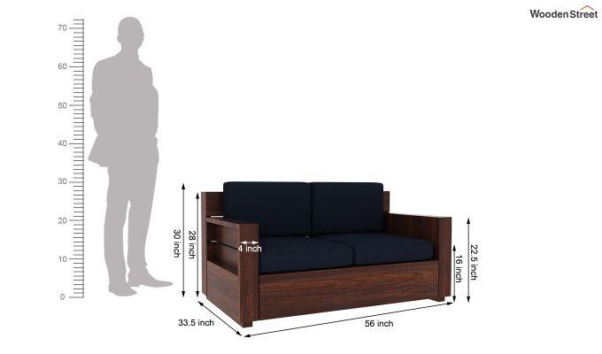 Marriott 2 Seater Wooden Sofa (Walnut Finish)-5